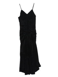 1980's Womens Totally 80s Asymmetrical Maxi Prom Or Cocktail Dress