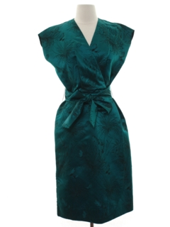 1970's Womens Cheongsam Style Cocktail Dress