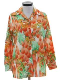 1970's Womens Hawaiian Inspired Shirt