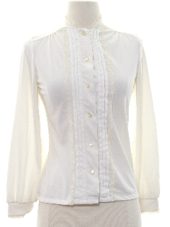 1960's Womens/Girls Ruffled Front Shirt