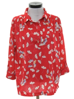 1980's Womens Totally 80s Secretary Shirt