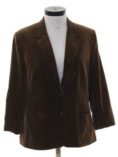 1980's Womens Velvet Boyfriend Style Blazer Sport Coat Jacket