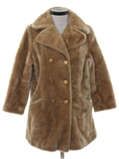 1970's Womens Faux Fur Coat Jacket
