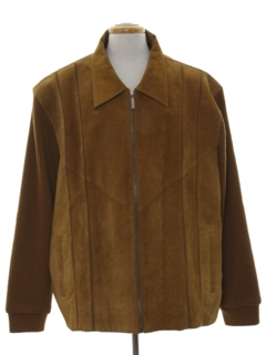 1970's Mens Leather Sweater Jacket