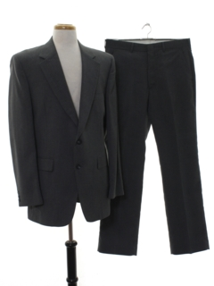 1980's Mens Matching 2 Piece Pinstriped Suit