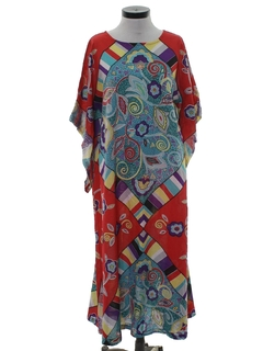 1970's Womens Hippie Caftan Dress