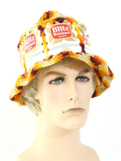 1970's Unisex Accessories - Knit Beer Hat