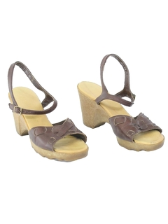 1980's Womens Accessories - Leather Heels Shoes