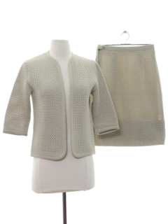 1960's Womens Knit Skirt Suit