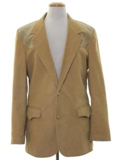 1980's Mens Corduroy Western Style Blazer Sport Coat Jacket