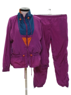 1980's Womens Totally 80s Jogging Suit