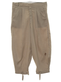 1980's Mens Golf Knickers Pants