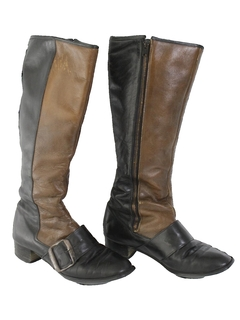 1960's Womens Accessories - Mod Leather Boots Shoes
