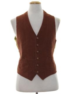 1960's Mens Corduroy Suit Vest