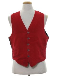 1950's Mens Corduroy Suit Vest