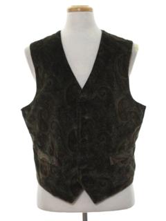 1990's Mens Velvet Suit Vest
