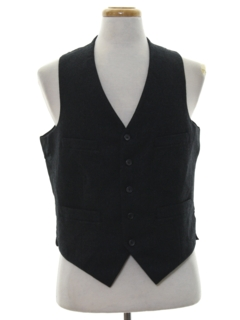 1990's Mens Wool Suit Vest