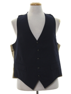 1980's Mens Totally 80s Wool Suit Vest