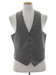 1980's Mens Wool Suit Vest