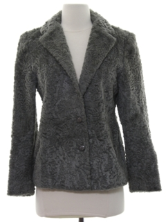 1980's Womens Faux Fur Coat Jacket