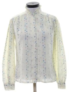 1970's Womens Prairie Style Hippie Shirt
