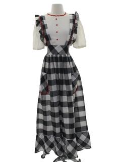 1970's Womens Maxi Prairie Dress