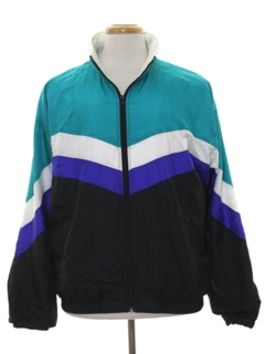 1980's Mens Totally 80s Wind Breaker Zip Jacket