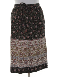 1970's Womens Hippie Wrap Skirt