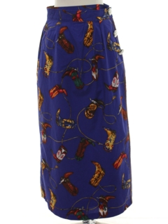 1980's Womens Maxi Wrap Skirt