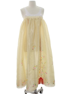 1970's Womens Hippie Maxi Overdress