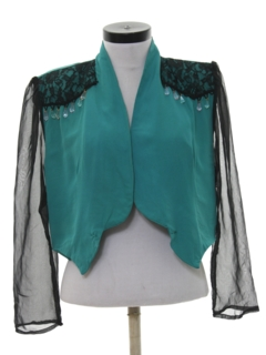 1980's Womens Totally 80s Cocktail Shirt Jacket