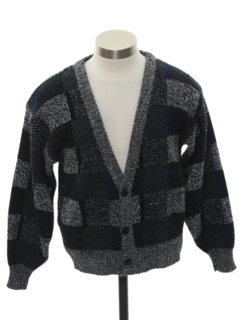 1980's Mens/Boys Totally 80s Cardigan Sweater