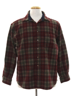 1990's Mens Wool Flannel Shirt