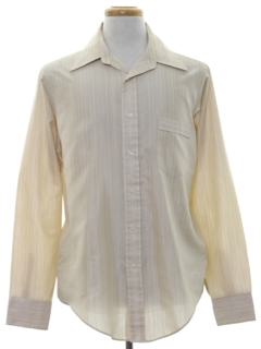 1980's Mens Subtle Striped Shirt