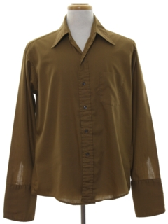 1960's Mens Mod French Cuff Sport Shirt