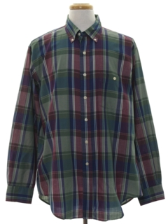 1990's Mens Plaid Shirt