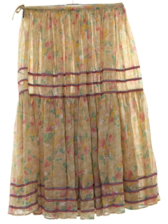1980's Womens Hippie Maxi Skirt