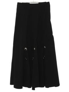 1980's Womens Western Maxi Skirt