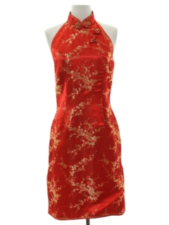 1980's Womens Cheongsam Cocktail Dress