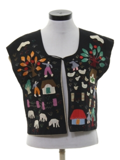 1980's Womens Hippie Vest