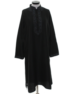 1990's Unisex Hippie Caftan Dress