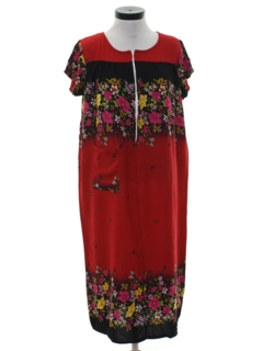1990's Womens Hippie Muu Muu Dress