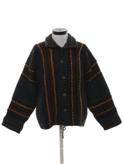 1980's Unisex Hippie Sweater Jacket