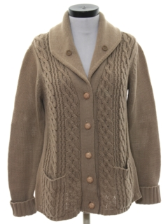 1980's Womens Mod Cardigan Sweater