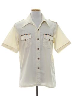 1970's Mens Safari Style Sport Shirt