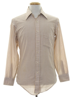 1980's Mens Striped Shirt