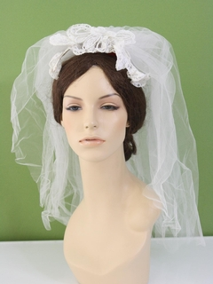 1970's Womens Accessories - Bridal Veil Hat