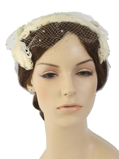 1950's Womens Accessories - Half Hat