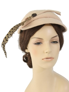 1940's Womens Accessories - Cap Style Hat
