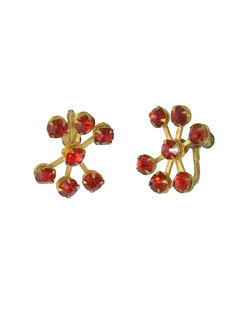 1950's Womens Accessories - Screwback Earrings